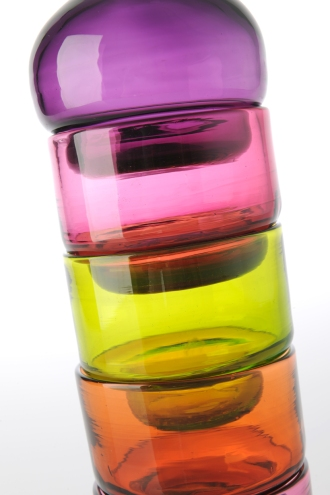 Components fitting into each other. Blown Glass.